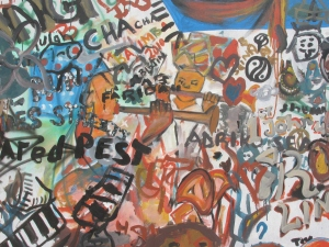 Grafiti in the streets of Kampala