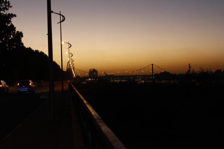 Khartoum by nightfall, along the Nile
