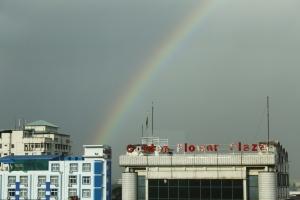 view from Panda hotel - Yangon
