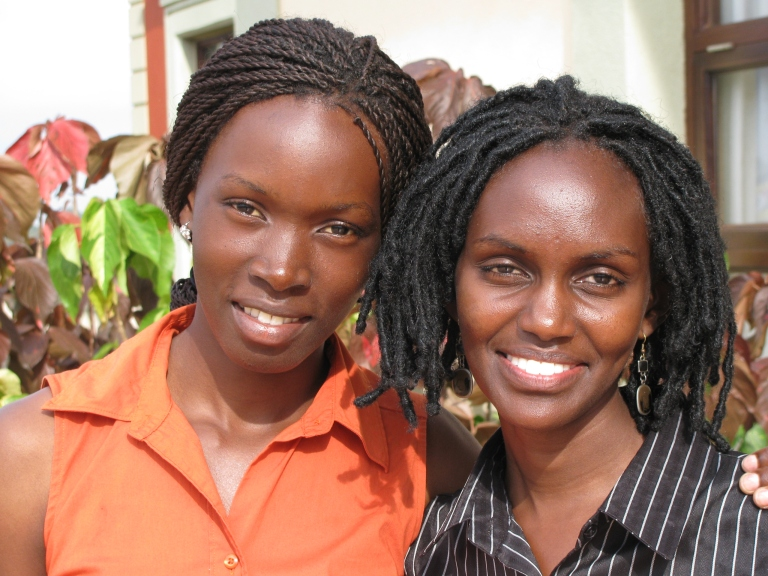 Two Ugandan Ladies - click on the photo for morel