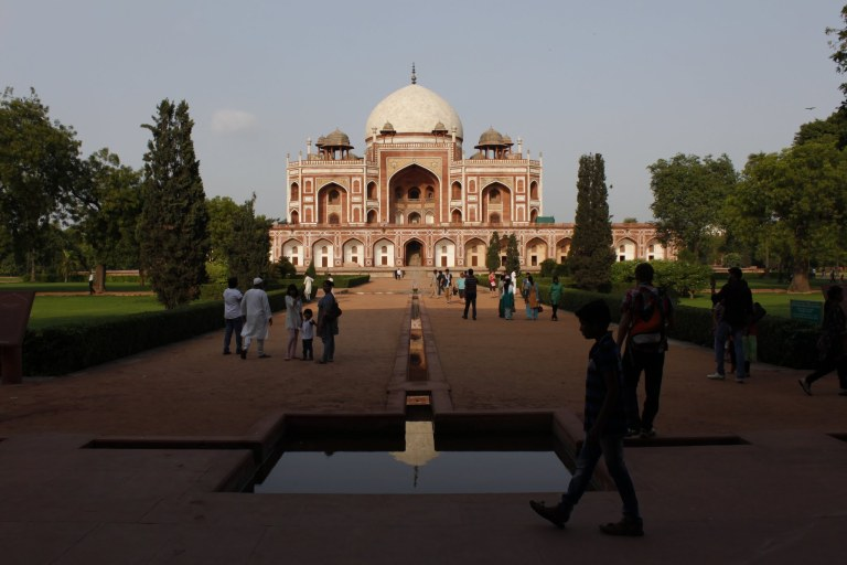 Delhi - one of its many monuments - click on the photo for more