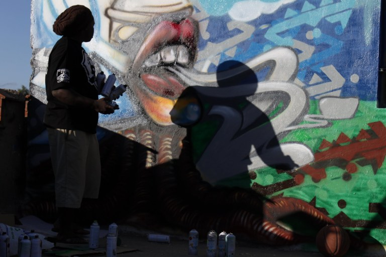 Bankslave - Kenyan graffiti artist - click on the photo for more